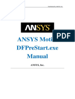 ANSYS Motion 2019 R3 DFPreStart.exe Manual