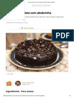 Bolo de chocolate com abobrinha _ Receitas Gshow _ Gshow