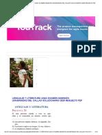 LENGUAJE Y LITERATURA UNAC EXAMEN ADMISIÓN UNIVERSIDAD DEL CALLAO SOLUCIONARIO 2020 RESUELTO PDF