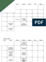 Calendar - English Comp II (ESL)
