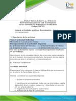 Guia de actividades y Rúbrica de evaluación - Unidad 1 - Fase 1 Conceptualización (1)