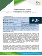 Syllabus del curso - FISICOQUIMICA AMBIENTAL 2