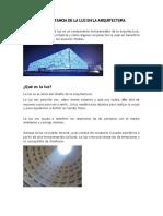 La importancia de la luz en la arquitectura