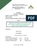 Application des Energies Renouvelables  solaire  pour renforcer le débit d'eau de foggara dans la région d'Adrar  Amguid-Tamentit .pdf