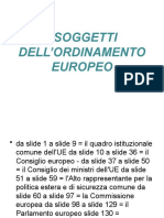 Soggetti istituzioni dell'ordinamento europeo