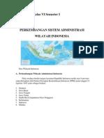 Materi IPS SD Kelas VI Semester I