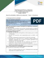 Guia de actividades y Rúbrica de evaluación - Unidad 1 - Tarea 1 - 1604