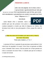 11.07.2020 - PEDINDO A DEUS