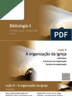 Bibliologia 2 - Lições 9 e 10
