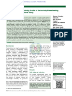 Undernutrition and Morbidity Profile of Exclusively Breastfeeding children