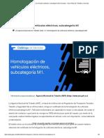 Homologación de vehículos eléctricos, subcategoría M1 _ Ecuador - Guía Oficial de Trámites y Servicios