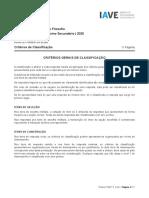 Exame de Filosofia 2020, 2ª fase, critérios de classificação