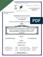 MEMOIRE (Développement et formulation d'un comprimé non enrobé (cas de Diclofénac Sodique) BENDOU.pdf