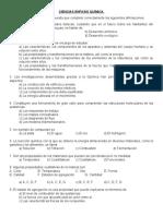 Evaluación Bloque I Tercero de Secundaria