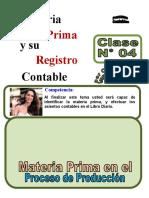 4 (Alumno) asientos contables sobre MATERIA PRIMA