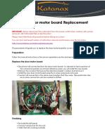 X-300 Door motor board replacement Rev 1 2017_05_01