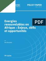 ENERGIE RENOUVELABLE EN AFRIQUE