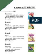 Libros de Texto 2020 2021