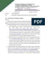 surat Pemberitahuan Upload Materi, Pembekalan, dan Distribusi DP