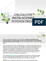 calculo en instalaciones fotovoltaicas
