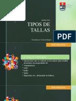 TIPOS DE TALLAS