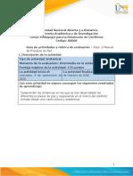 Guía de actividades y rúbrica de evaluación - Fase 2 - Manual de Procesos de Paz