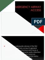 Emergency Airway Access