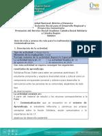 Guía de ruta y avance  de ruta para la realimentación - Fase 1 - Contextualización