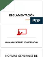 REGLAMENTACION DEL PROYECTO ARQUITECTÓNICO RCDFD