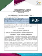 Guía de actividades y Rúbrica de evaluación  Tarea 2 - Leer, escribir y argumentar