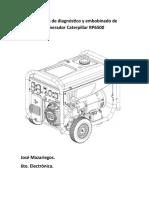 Resumen de diagnóstico y embobinado de generador Caterpillar RP6500 José Mazariegos
