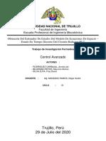 Obtención Del Estimador De Estados Del Modelo De Ecuaciones De Espacio - Estado En Tiempo Discreto Del Circuito Reductor RLC