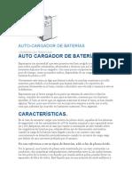 AUTO CARGADOR DE BATERÍAS