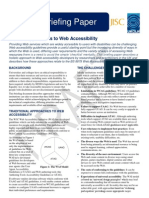 Holistic Approaches to Accessibility Briefing (DRAFT)