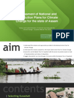Assessment of National and State Action Plans for Climate Change for the state of Assam