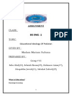 education, ideology of education and present condition of education assignment by asad BS 1