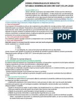 Instruirea personalului didactic pentru implementarea normelor din OM 5487.doc