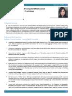 Learning and Development Specialist-Sajini Iyer