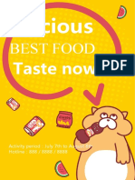 Yellow Poster For Food-WPS Office