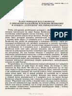 Ślady Powiązań Kulturowych z Obszarami Kaukaskimi w Europie Środkowej w Zasięgu Łużyckich Pól Popielnicowych