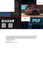 Shelby GT500 2020 Supplement Manual