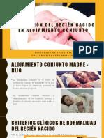 Valoración del recién nacido en alojamiento conjunto