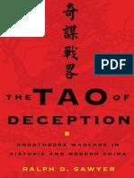 The Tao of Deception Unorthodox Warfare in Historic and Modern China by Ralph D. Sawyer Mei-Chun Lee Sawyer (z-lib.org)