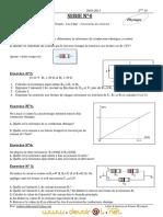 Série d'exercices de  N°4 (Avec correction) - Physique Loi d'ohm Assosiations des résistors - 2ème  TI (2010-2011) Mr abdessatar
