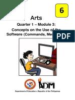 Arts6_Q1_Mod3_ConceptsOnTheUseOfTheSoftware_Version3
