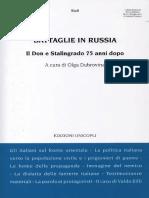 La politica italiana verso la popolazione civile in URSS