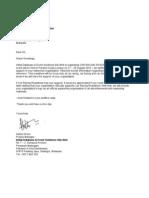 Letter to Media Partner