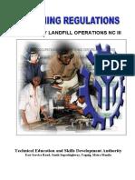 TR-Sanitary Landfill Operations NC III