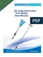 ML1000 magnetostrictive level gauge user manual