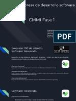 Presentación Empresa de desarrollo software CMMI Fase 1
